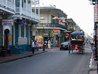 French Quarter - The Rue Bourbon, or Bourbon Street, was named for the former ruling dynasty of France.