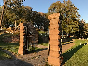 National Register of Historic Places listings in Orleans County, New York - Image: Boxwood Cemetery Gates