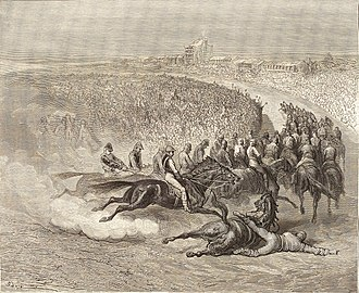 Epsom Downs Racecourse - Tattenham Corner in 1872, by Gustave Doré.