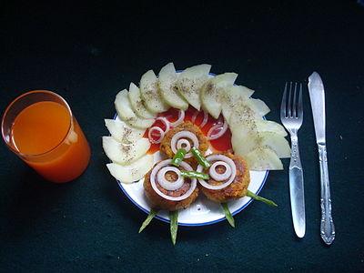 Bread tikkis with Salad.JPG