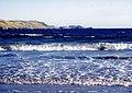 Breaking waves and Fora Ness, Sand, Shetland - geograph.org.uk - 455973.jpg