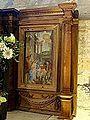 Brenouille (60), église Saint-Rieul, tabernacle, aile droite - La Nativité du Christ.JPG