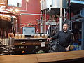 Brewery demonstration in restaurant Bryggeri, Helsinki, Finland.jpg