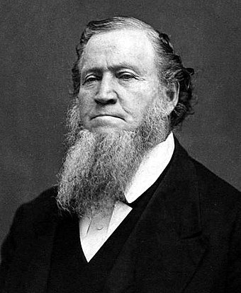 Brigham Young led the first Mormon pioneers to the Great Salt Lake. BrighamYoung1.jpg