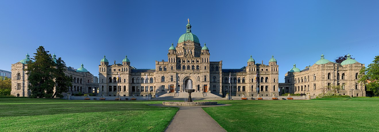 The British Columbia Parliament Buildings in Victoria British Columbia Parliament Buildings - Pano - HDR.jpg