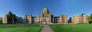 British Columbia Parliament Buildings - Image: British Columbia Parliament Buildings Pano HDR