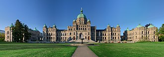 Provinces and territories of Canada - Image: British Columbia Parliament Buildings Pano HDR