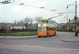 Riddrie - Image: British Trolleybuses Glasgow geograph.org.uk 553396