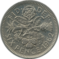 British sixpence 1962 reverse.png