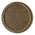Bronze replica of the gold medal awarded to Wellcome L0034519.jpg
