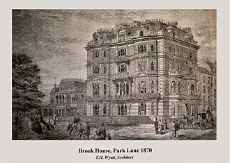Brook House (Park Lane) - Brook House 113 Park Lane in Mayfair, London as it appeared in 1870, with its French façade before its 1933 remodel to Georgian style