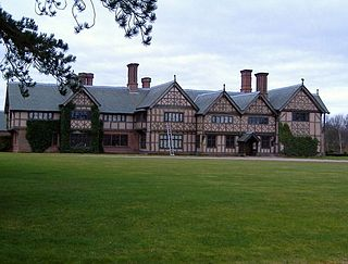 Broxton Old Hall Grade II listed English country house in Broxton, Cheshire, UK