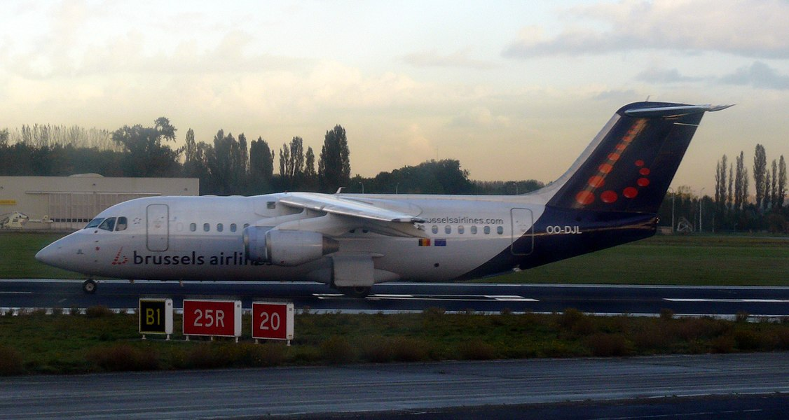 Brussels Airlines Avro 146-RJ85 OO-DJL at Brussels Airport.