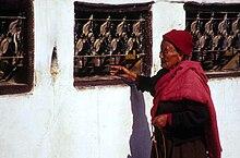 Buddhist prayers in Kathmandu.jpg