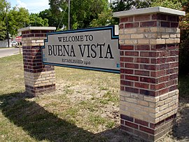 Buena Vista entrance sign