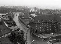 Gelsenkirchen-Buer looking south towards downtown Gelsenkirchen, 1955.