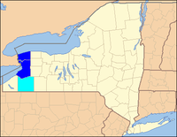 Map of Buffalo – Niagara Falls Metropolitan Area
