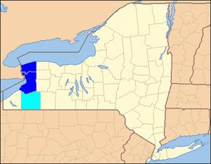 Buffalo–Niagara Falls metropolitan area - Image: Buffalo Niagara Falls metropolitan area