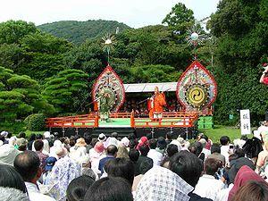Gagaku - Jingu-Bugaku at Kotaijingu (Naiku), Ise city, Mie Prefecture