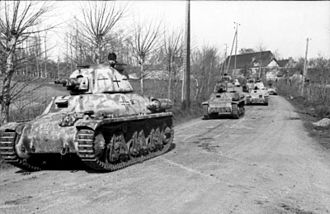 Normandy landings - German troops using captured French tanks (Beutepanzer) in Normandy, 1944
