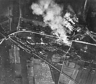 Battle of Rotterdam - Waalhaven The airbase near Rotterdam burning during the German attack.