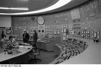 Control room - Greifswald Nuclear Power Plant control room in 1990.