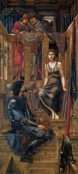 Love at first sight - King Cophetua and the Beggar Maid, 1884, by Edward Burne-Jones, depicts an older tale of love at first sight.