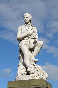 Statue of Robert Burns in Dumfries town centre...