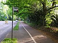 Bus Stop, Pavement and Cycle Lane, Pembury Rd - geograph.org.uk - 1302333.jpg