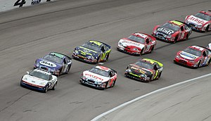 The NASCAR w:Busch Series field at w:Texas Mot...