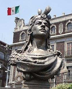 Bust of Cuauhtémoc (Zócalo, Mexico City).jpg