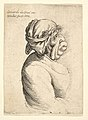Bust of woman with protruding mouth wearing low-cut dress and cloth bound around her head, in profile to right MET DP823687.jpg