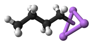 N-Butyllithium - Close-up of the delocalized bonds between butyl and lithium