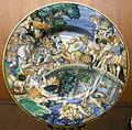 C.sf., urbino, piatto da parata con orazio coclite in difesa del ponte, 1542.JPG
