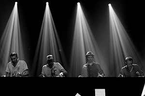 C2C (group) - C2C - Le chabada - Sept 2012. From left to right: DJ Atom, DJ pFeL, DJ Greem, and 20syl