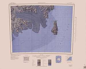 Coulman Island - Map showing Coulman Island
