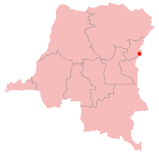 Location of Rutshuru in the Democratic Republic of the Congo