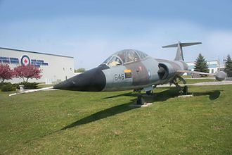 Canadair CF-104 Starfighter - CF-104D Starfighter 104646 at the National Air Force Museum of Canada, CFB Trenton