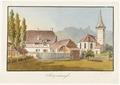 CH-NB - Sigriswil, Pfarrhaus und Kirche - Collection Gugelmann - GS-GUGE-WEIBEL-D-126a.tif