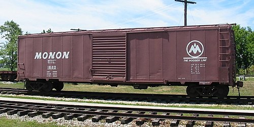 A restored Monon boxcar at the Linden Railroad Museum in Linden, Indiana CIL 1620 20050710 IN Linden.jpg