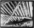 CLOSE-UP VIEW OF UNDERSTRUCTURE - Jordan Covered Bridge, Spanning Thomas Creek, County Road 829, Scio, Linn County, OR HAER ORE,22-SCIO.V,1-16.tif