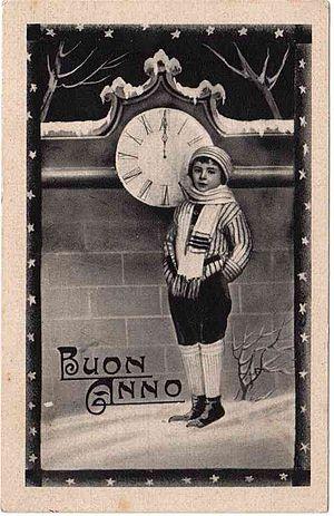 Italiano: Cartolina postale - Buon Anno