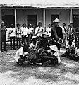 COLLECTIE TROPENMUSEUM Plechtigheid met karbouwen als onderdeel van het vorstelijk huwelijk in de kraton van Surakarta TMnr 20000229.jpg