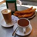 Café con leche, churros y chocolate, Casa Aranda, Malaga.jpg