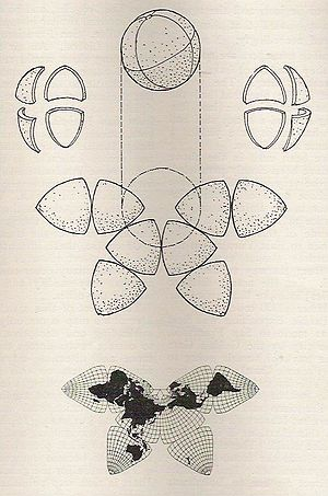 "Bernard J. S. Cahill - From cover of 1919 pamphlet by Cahill, ""The Butterfly Map"", 8 p."