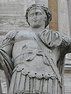 Campidoglio, Roma - Costantino II cesare dettaglio
