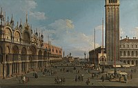 Canaletto (Venice 1697-Venice 1768) - The Piazza and Piazzetta from the Torre dell'Orologio towards San Giorgio - RCIN 400513 - Royal Collection.jpg