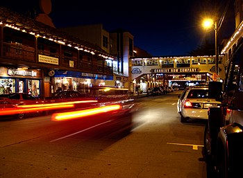 Night life along the old Cannery Row