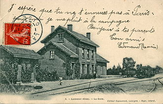 Lassigny - The old railway station in Lassigny