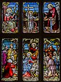 Carlton-leMoorland, St Mary's church, Stained glass window (23829494743).jpg